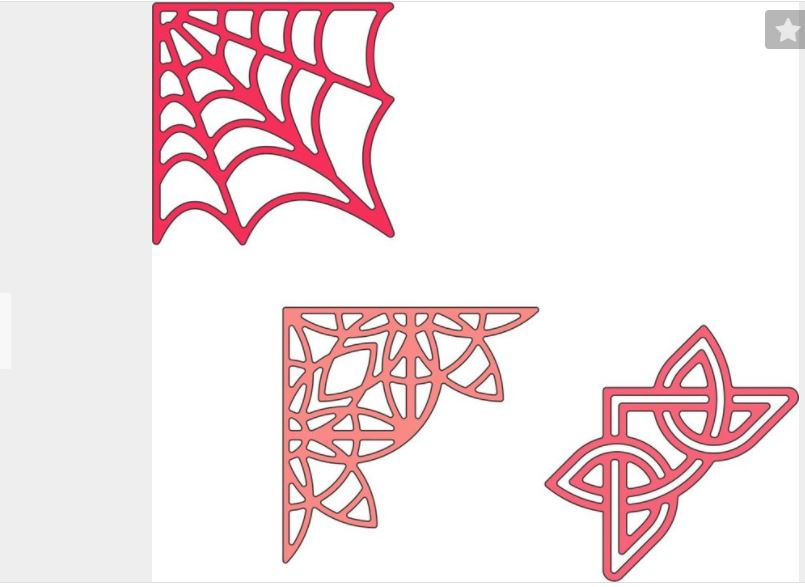 Cheery-Lynn-Designs-Lace-Corner-Deco-H-Dies-3-Designs-Spider-Web-Fancy-Celtic thumbnail 2