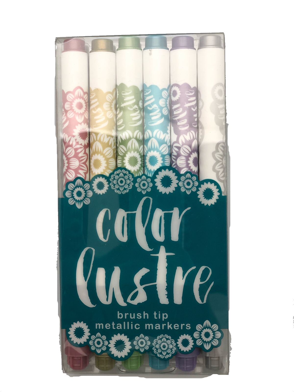 Color-Lustre-Brush-Tip-Metallic-Markers-Set-of-6