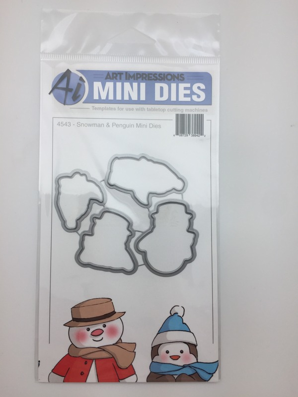Art-Impressions-Snowman-And-Penguin-Mini-Front-and-Backs-Dies
