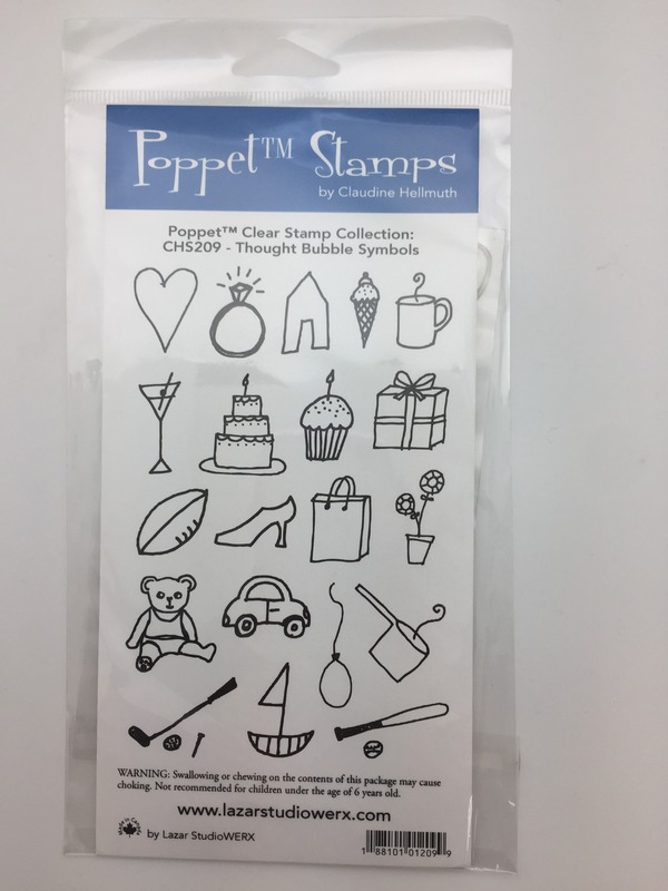 Doodles-Acrylic-Clear-Rubber-Stamps-Thought-Bubble-Claudine-Hellmuth-Poppets